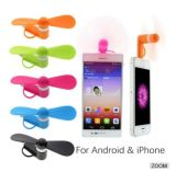 Gift Promotional 2in1 Mini USB Fan for iPhone for Samsung