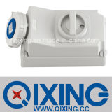 IP67 Cee/IEC Socket with Switch and Mechanical Interlock (QX7012)