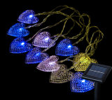 Outdoor Heart Shaped LED Solar String Lights