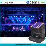 DMX512 25PCS 15W RGBW LED Moving Head Matrix Blinder Light