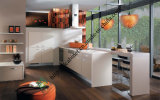 Modern Fashion Red Lacquer Kitchen Cabinet (zs-444)