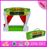 2016 Wholesale Baby Wood Puppet Stage for Sale, Funny Kids Wood Puppet Stage for Sale, Best Puppet Stage for Sale W10d141