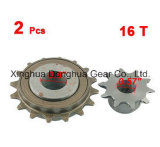2 PCS 16t 10t Single Speed Chain Drive Sprocket Wheel for Bicycle Bike