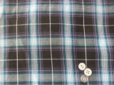 Black Checks Pattern Shirt Polyester Cotton Fabric