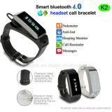 Newest Bluetooth Smart Bracelet with Earphone (K2)