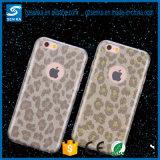 Unique Fashion Design Leopard Print TPU+PC Phone Case for iPhone 6 6s Phone Cover
