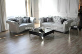 Neo-Antique Modern White Leather Sofa Fabric Sofa (LS-1109A & B & C)