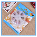 Travel 7 Grid Plastic Round Medicine Pill Cases