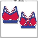 Latest Design Ladies Lycra Printed Pattern Active Wear Yoga Bra