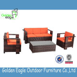 Modern Home Furniture, Sofa Set with Poly Rattan/Wicker