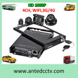 4 Channel Mini Mobile DVR in Car with SD Card HD 1080P Recording for Car, School Bus, Taxi, Cab, Vehicles