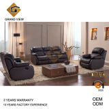 Brown Synthetic Leather Recliner Sofa (GV-RS864)