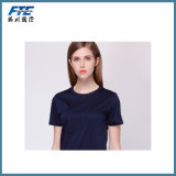 T Shirt with Round Neck Fashion Pure Color