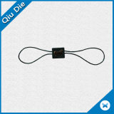 Black Color Custom Clothing Plastic String Seal Tag