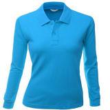 Ladys Long Sleeve Polo Shirt