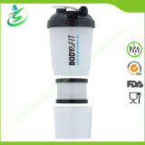 600ml Big Protein Shaker Bottle with Pill Container