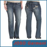 Lady Plus Size Jeans Straight Trousers (JC1094)