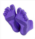 Fashion Toe Cotton Yoga Socks/Cotton Socks/Anti-Slip Socks