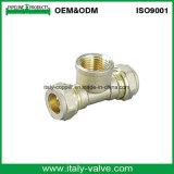 Nickel Plated Forging Brass Compression End Female Tee (AV7015)