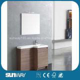 MDF Melamine Small Bathroom Cabinet with Mirror