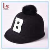 Child Baby Kids Autumn Winter Peak Hunting Hat Pompom Ball Equestrian Caps