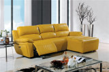 Genuine Leather Chaise Leather Sofa Electric Recliner Sofa (449)
