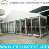 10X24m Aluminum Frame with Customized Wood Texture Glass Tent for Hotel Meeting