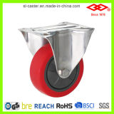 Red PU Stainless Steel Caster (D104-26E100X32)