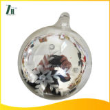 2016 Carved Silver Christmas Glass Ornament Ball