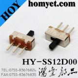 3pin DIP Type Slide Switch Two Position Toggle Switch (HY-SS12D00)