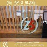 Double or Three Colors Silk Screen Printed Tempered Glass with Polished Edges