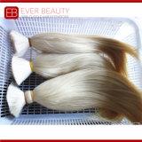 Grey Color Double Drawn Top Grade Human Hair Bulk