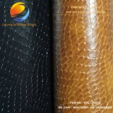 Good Quality PU Shoe Material of Synthetic Leather Ital Croco