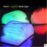 Mini Colorful Table Lamp LED Wooden Bluetooth Book Light Speaker