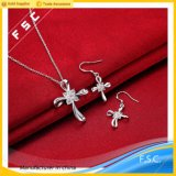 New Item Fashion Cross Cubic Zirconia Jewelry Set for Girl