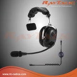 Single Side Over-The-Head Two Way Radio Aviation Headset with Dynamic Microphone