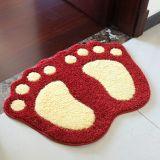 Acrylic Polyester Microfiber Nylon PP Footprint Foot Print Shape/Shaped Bath Bathroom Shower Toilet Floor Door Rugs