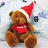 Custom Christmas Teddy Bear with Hat, Scarf and Book