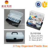 2-Tray Black Assorment Storage Plastic Boxes
