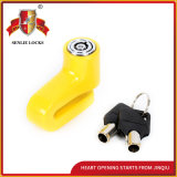 Jq8705 Yellow Color Safety Durable Bicycle Lock Motocorcycle Disk Lock with Keys