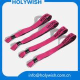 Ribbon Jacquard Wedding Wristbands with Print Logo