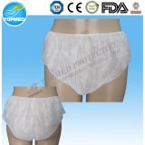 Biodegradable Disposable Paper Panties/Briefs, Soft and Sanitary