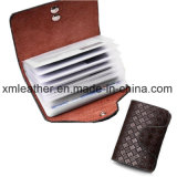 PU Leather Travel Transparent ID Card Holder Protective Wallet