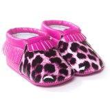 Fashion Tassels Leopard Infant Toddler Moccasins Anti-Slip Baby Shoes