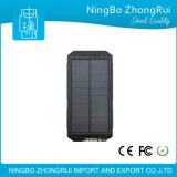 2017 New Useful Outdoor Products Waterproof Solar Power Bank 10000mAh Solar Charger Compass Flash Light LED Light for Camping