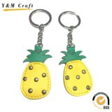 Newest Metal and Leather Pineapple Fruit Keychain