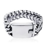 Classic Punk Style ID Bracelets Stainless Jewelry Distortion Free for Men