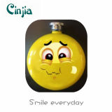 New Smile Face Stainless Steel Wine Hip Flask