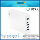 80W 5-Port Charger Station Multiple USB Travel Charger with QC Charge and Pd Type C Charging