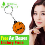 Wholesale Souvenir Football/Basketball Shaped PVC Keychain for Sport Gift